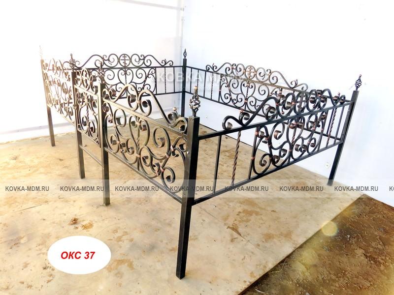 Ограда на могилу из металла размеры фото