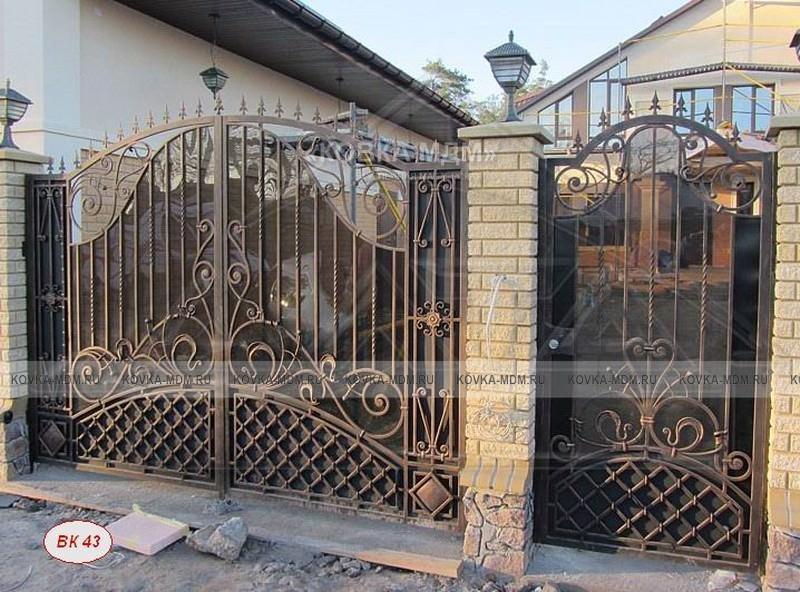 образцы ворот металлических